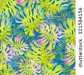 beautiful watercolor seamless... | Shutterstock . vector #321584156