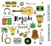 reggae  hand drawn collection | Shutterstock .eps vector #321597092