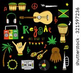 reggae musical instrument and... | Shutterstock .eps vector #321597236