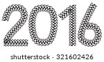 2016 inscription made from... | Shutterstock .eps vector #321602426