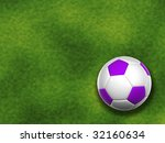 3d white and violet soccer ball ... | Shutterstock . vector #32160634