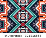 geometric ethnic pattern... | Shutterstock .eps vector #321616556