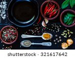 Food Background With Cuisine...