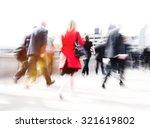 people commuter walking city... | Shutterstock . vector #321619802