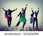 superheroes businessmen flying... | Shutterstock . vector #321626396