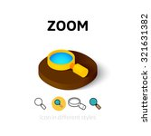 zoom icon  vector symbol in...