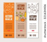 autumn vector billboards ... | Shutterstock .eps vector #321634406