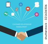 customer relationship... | Shutterstock .eps vector #321636506