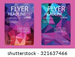 template polygon abstract... | Shutterstock .eps vector #321637466