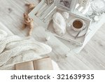 still life details  cup of tea... | Shutterstock . vector #321639935