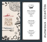 pizza italian with raw material ... | Shutterstock .eps vector #321647336
