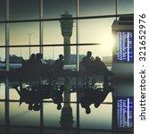 business people traveling... | Shutterstock . vector #321652976