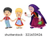 hansel and gretel an witch on... | Shutterstock . vector #321653426