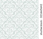 damask seamless blue and white... | Shutterstock . vector #321665642