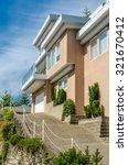 big custom made luxury house... | Shutterstock . vector #321670412