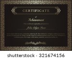 certificate of achievement with ... | Shutterstock .eps vector #321674156