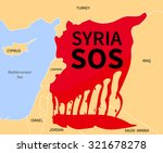 Syria Country Map Silhouette I...