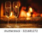 two glasses of sparkling... | Shutterstock . vector #321681272