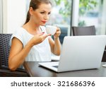 young attractive business woman ... | Shutterstock . vector #321686396
