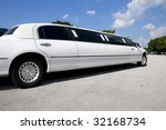 white stretch limousine with...