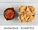 An Overhead View Of A Bowl Of...