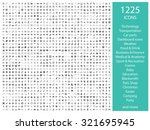 set of 1225 icons  for web ... | Shutterstock .eps vector #321695945