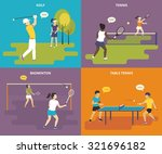 flat sport icons set of boy... | Shutterstock .eps vector #321696182