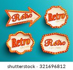 shining retroset  light frames... | Shutterstock .eps vector #321696812