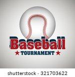 baseball sport design over... | Shutterstock .eps vector #321703622