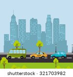 urban transport and vehicles... | Shutterstock .eps vector #321703982
