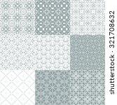 vector of seamless patterns set.... | Shutterstock .eps vector #321708632