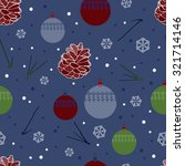 seamless pattern with cones ... | Shutterstock .eps vector #321714146