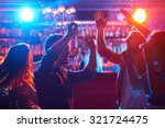 happy friends dancing at party... | Shutterstock . vector #321724475