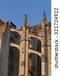 Small photo of Flying buttress in the cathedral of Beaubais, Oise, Picardie, France