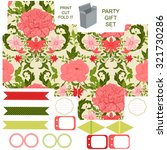party set. gift box template. ...   Shutterstock .eps vector #321730286