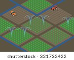 agriculture  and water sprinkler, image illustration