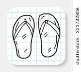 flip flop doodle   Shutterstock .eps vector #321732806