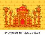 vector design of taj mahal in...