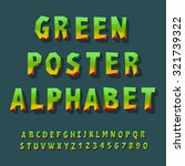 poster alphabet and numbers ... | Shutterstock .eps vector #321739322