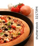 A Supreme Pizza In A Pan With...