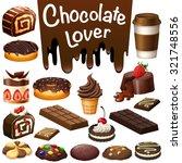 different kind of dessert... | Shutterstock .eps vector #321748556