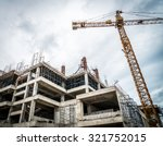 crane and building construction ... | Shutterstock . vector #321752015