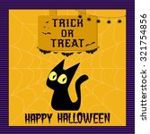 happy halloween poster. vector... | Shutterstock .eps vector #321754856
