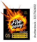 fire party poster template.  | Shutterstock .eps vector #321762602