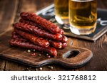 sausages with beer | Shutterstock . vector #321768812