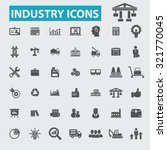 industry icons   Shutterstock .eps vector #321770045