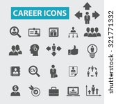 career icons | Shutterstock .eps vector #321771332