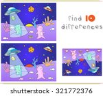 cute friendly aliens land on... | Shutterstock . vector #321772376