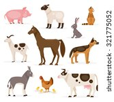 A Collection Of Farm Animals O...