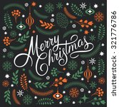 Merry Christmas Lettering On A...